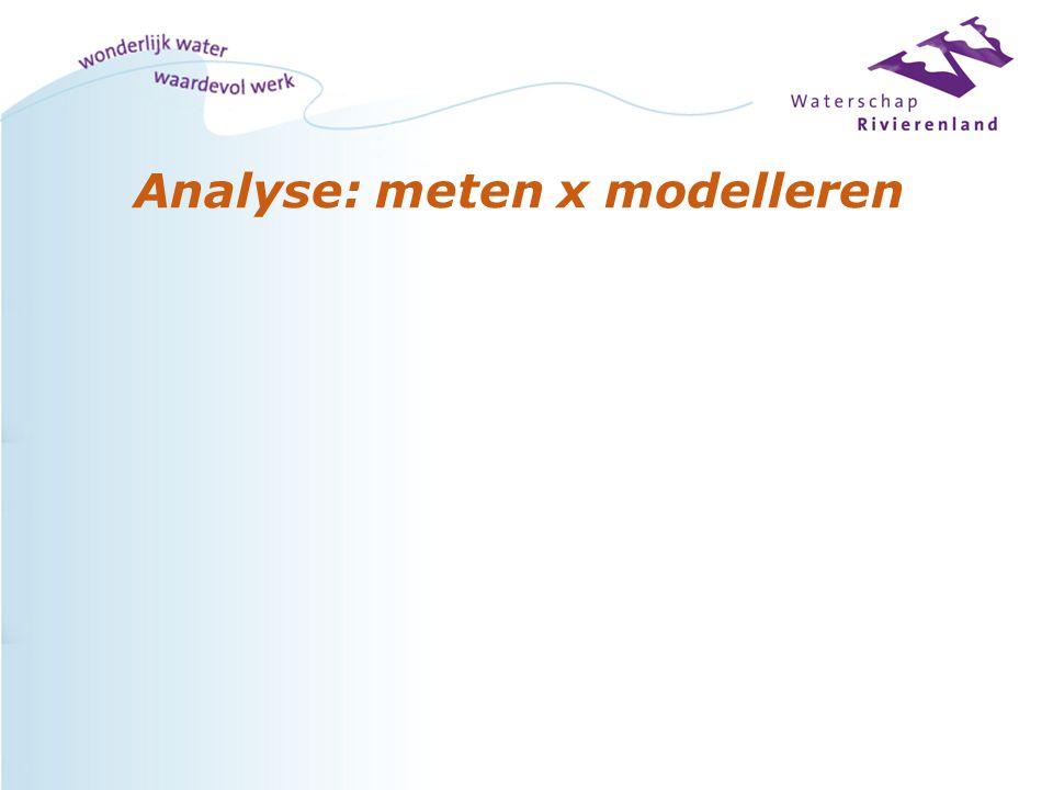 Analyse: meten x modelleren