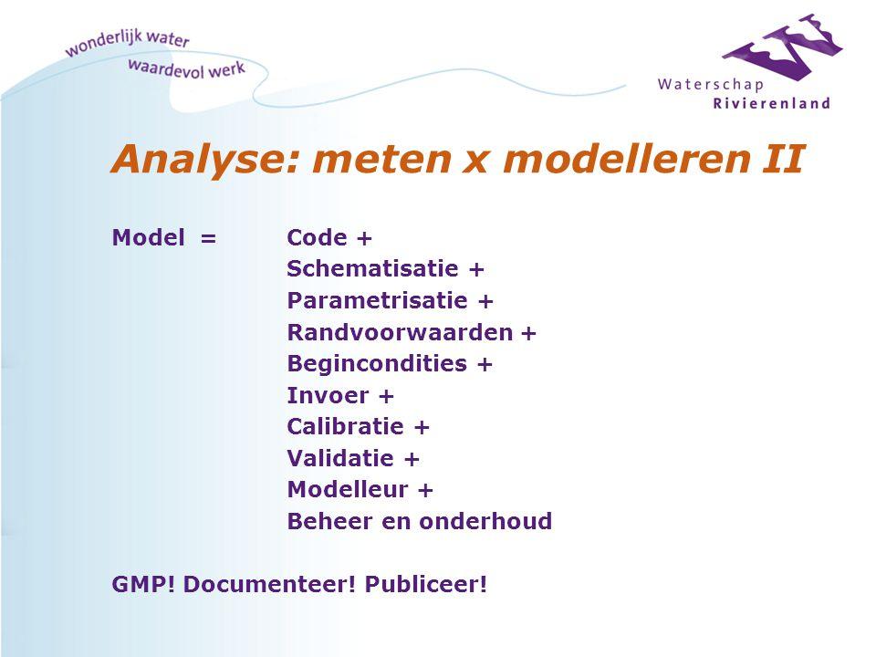 Analyse: meten x modelleren II