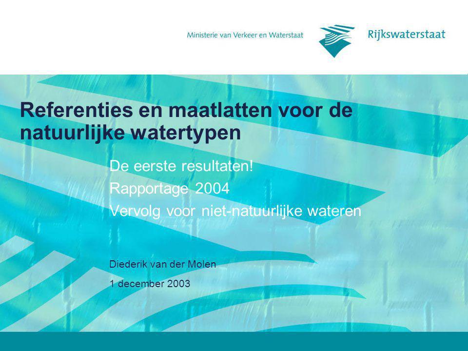 Referenties en maatlatten voor de natuurlijke watertypen