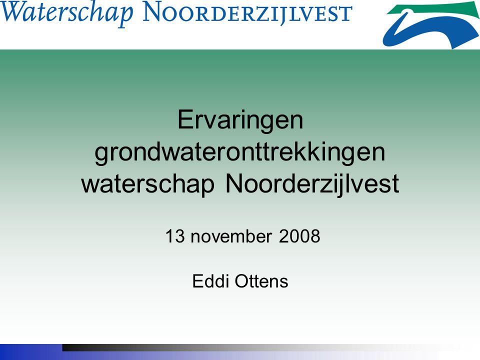 Ervaringen grondwateronttrekkingen waterschap Noorderzijlvest