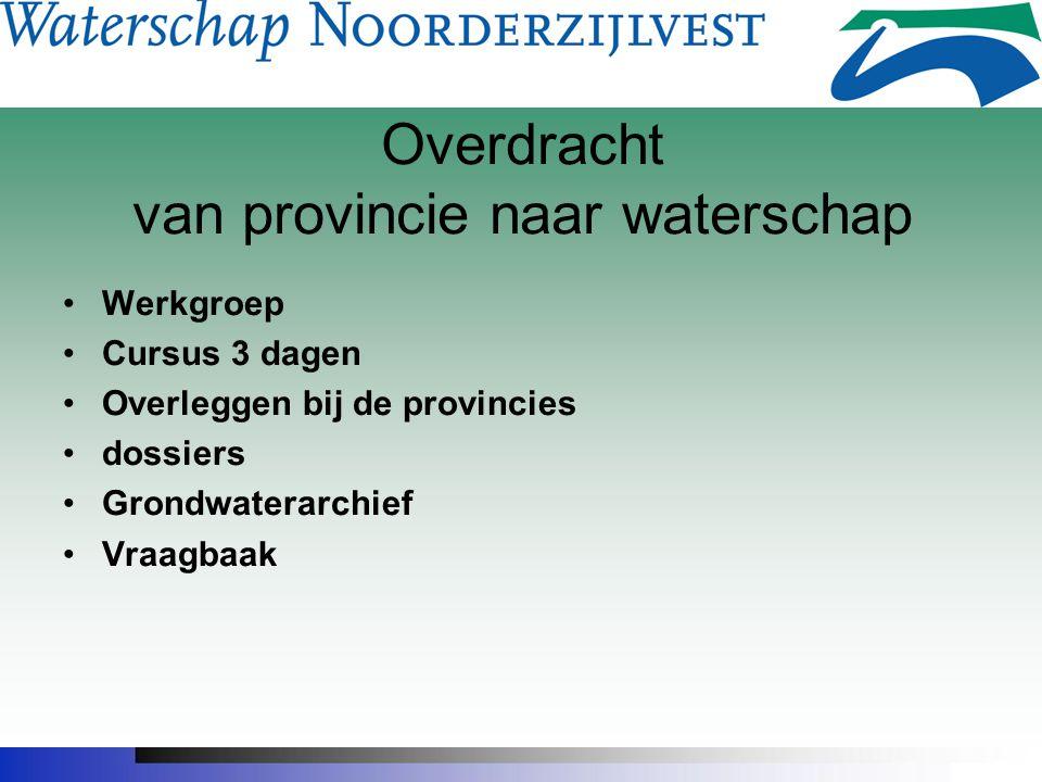 Overdracht van provincie naar waterschap