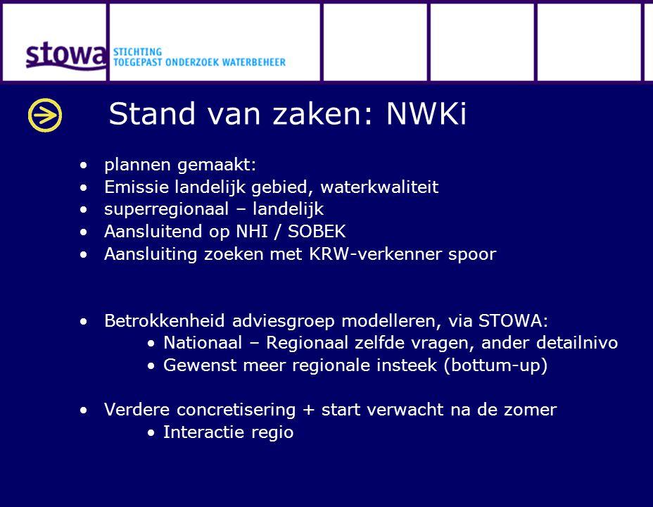 Stand van zaken: NWKi plannen gemaakt: