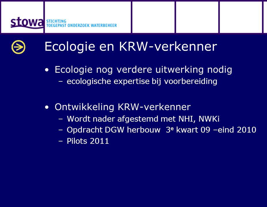 Ecologie en KRW-verkenner