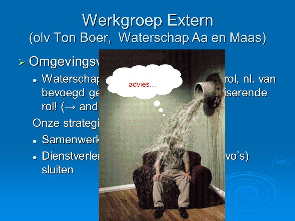 Werkgroep Extern (olv Ton Boer, Waterschap Aa en Maas)