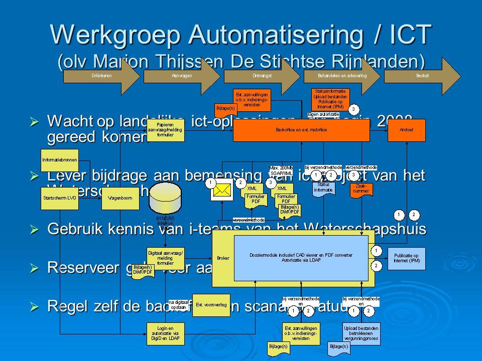 Werkgroep Automatisering / ICT (olv Marion Thijssen De Stichtse Rijnlanden)