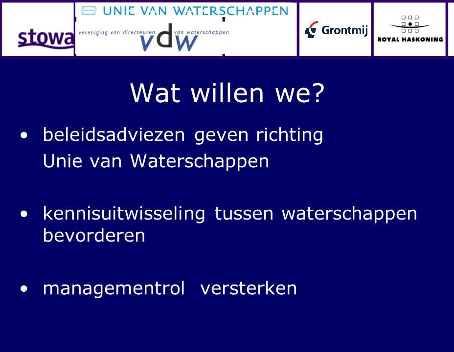 Wat willen we beleidsadviezen geven richting Unie van Waterschappen