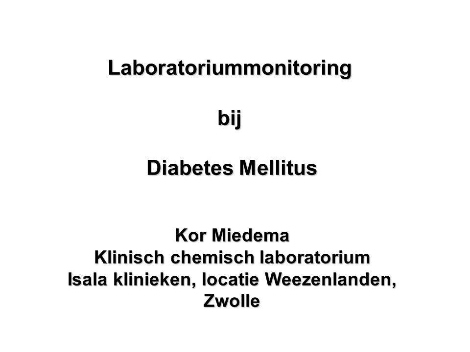 Laboratoriummonitoring bij Diabetes Mellitus
