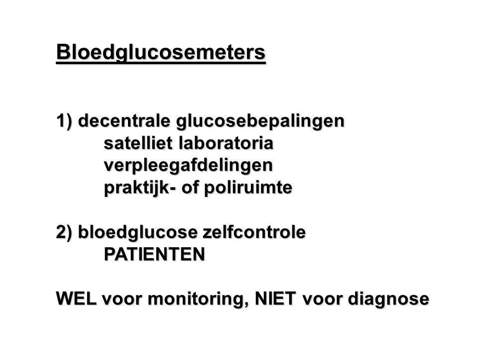 Bloedglucosemeters 1) decentrale glucosebepalingen