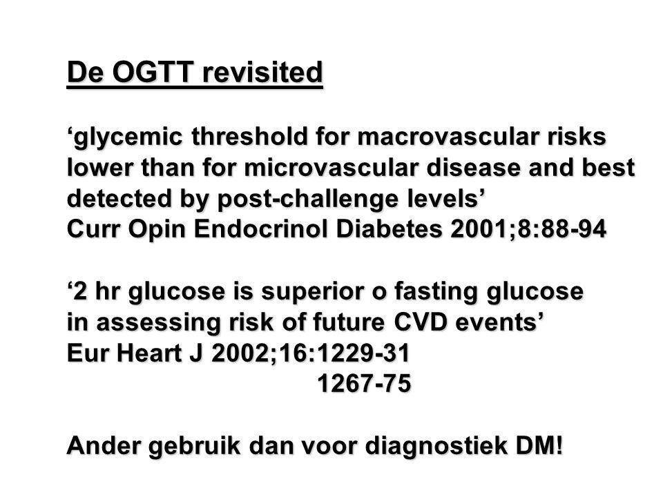 De OGTT revisited 'glycemic threshold for macrovascular risks