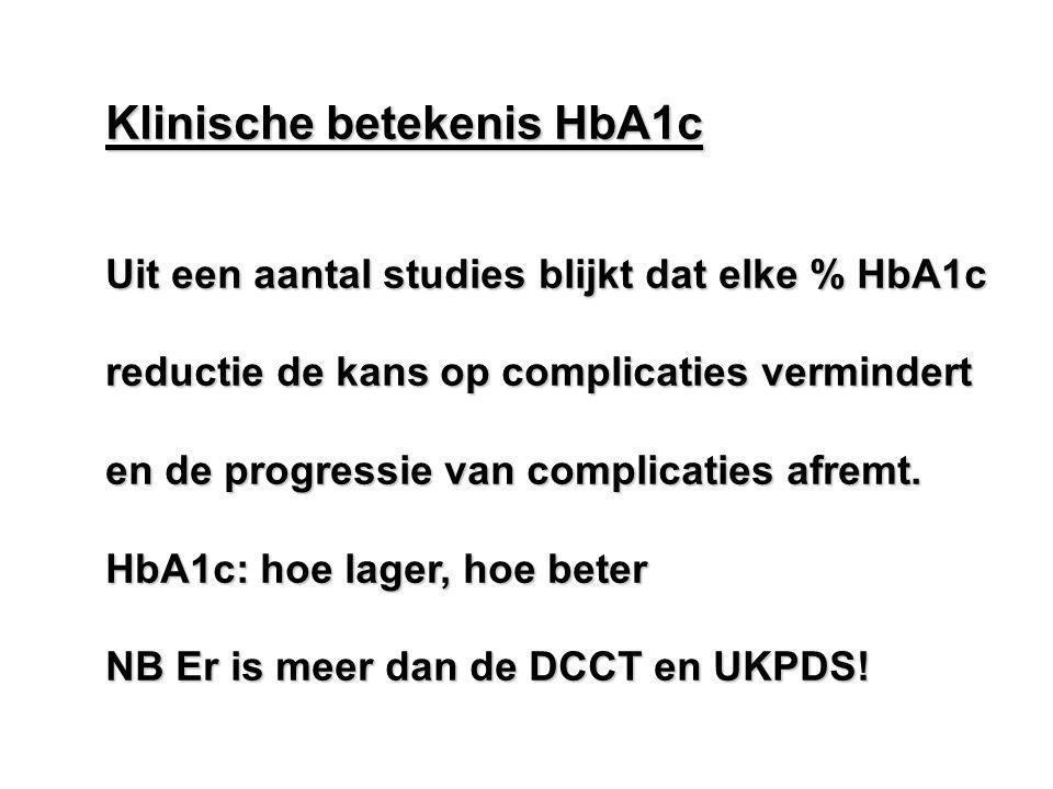 Klinische betekenis HbA1c