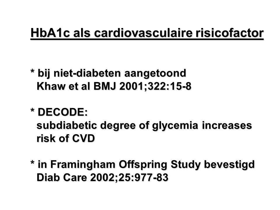 HbA1c als cardiovasculaire risicofactor