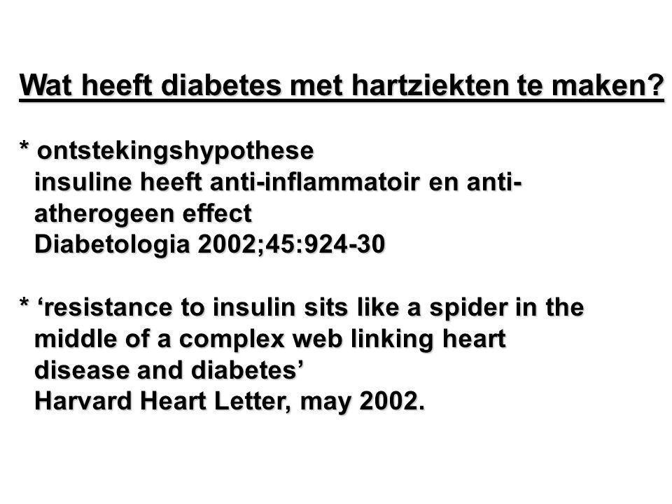 Wat heeft diabetes met hartziekten te maken