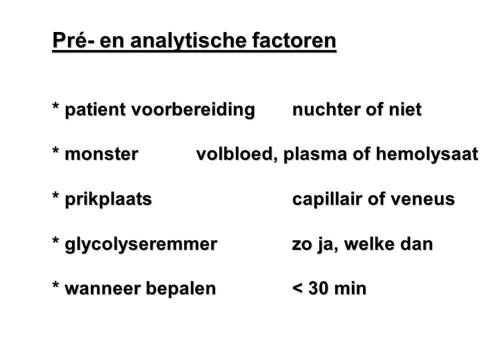 Pré- en analytische factoren