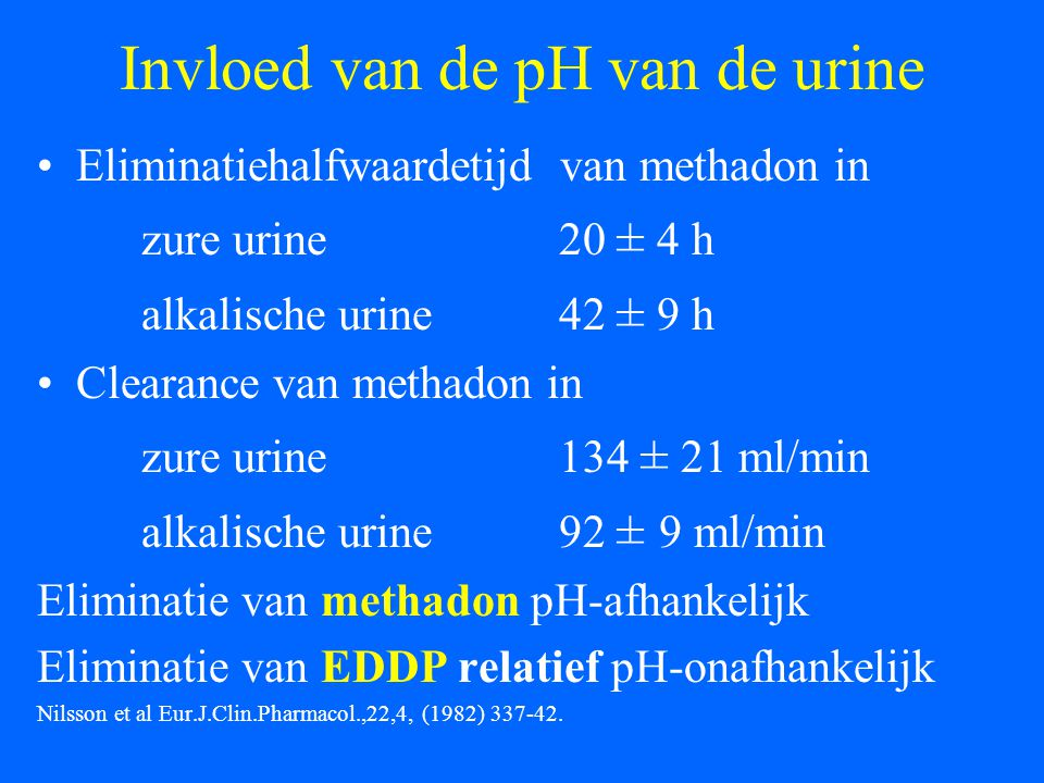 Invloed van de pH van de urine