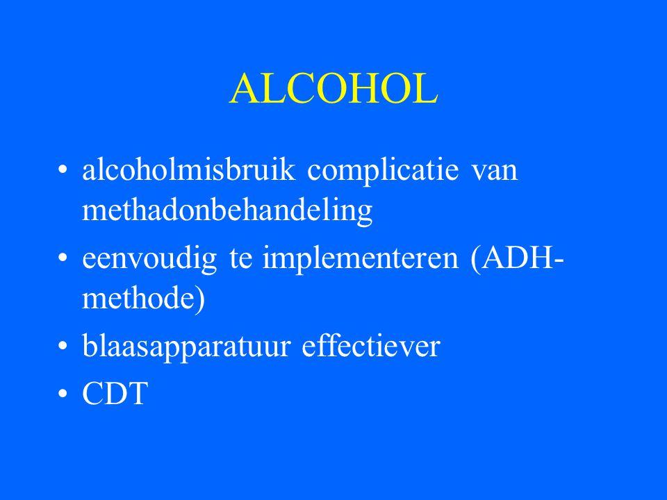 ALCOHOL alcoholmisbruik complicatie van methadonbehandeling