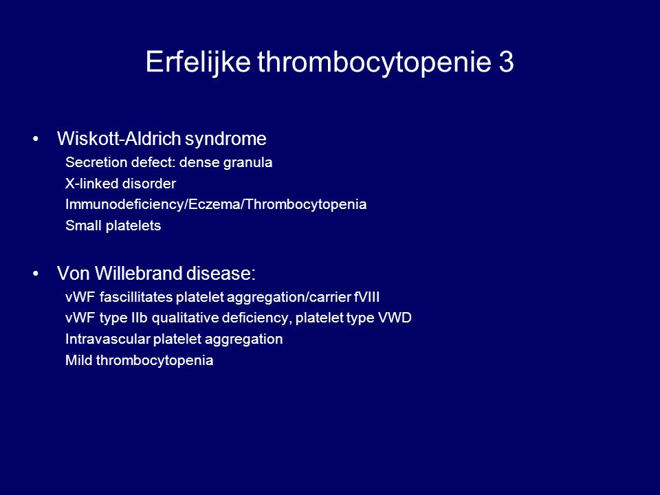 Erfelijke thrombocytopenie 3