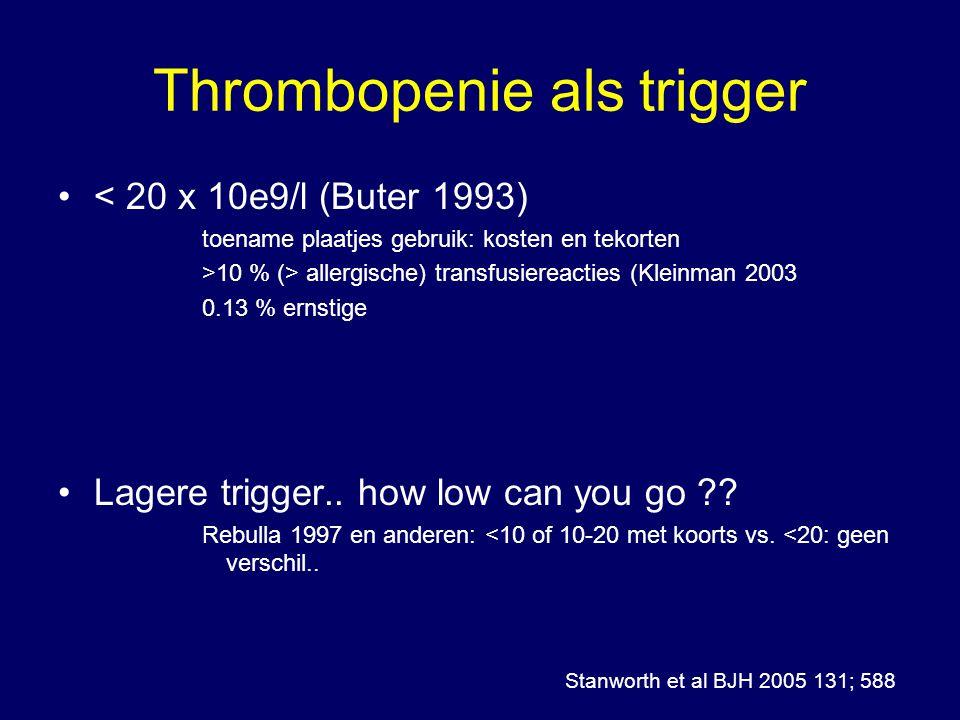 Thrombopenie als trigger