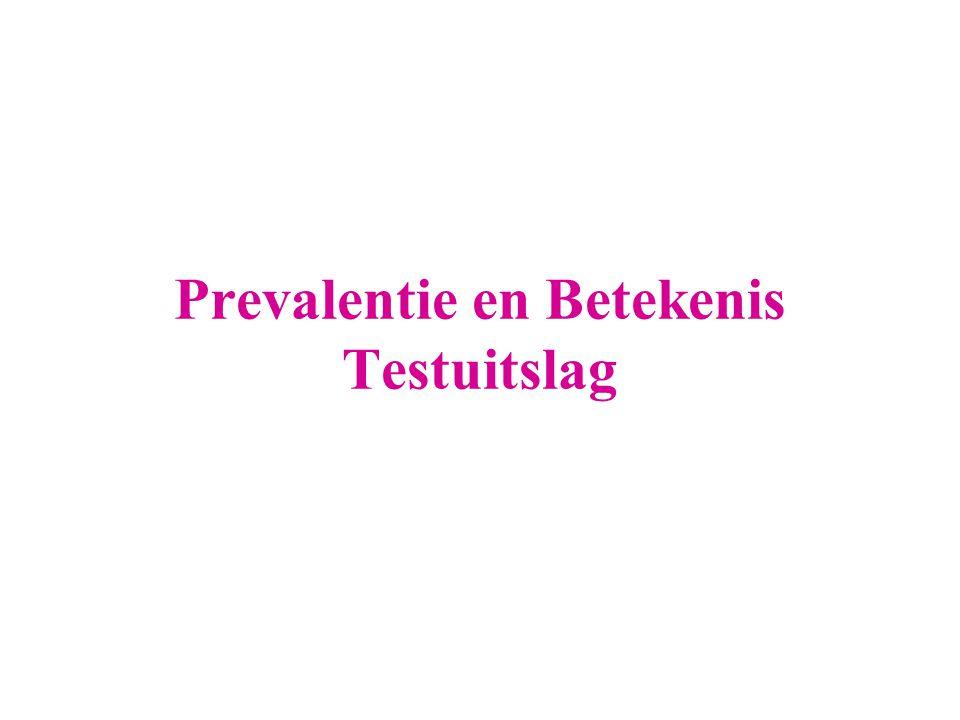 Prevalentie en Betekenis Testuitslag
