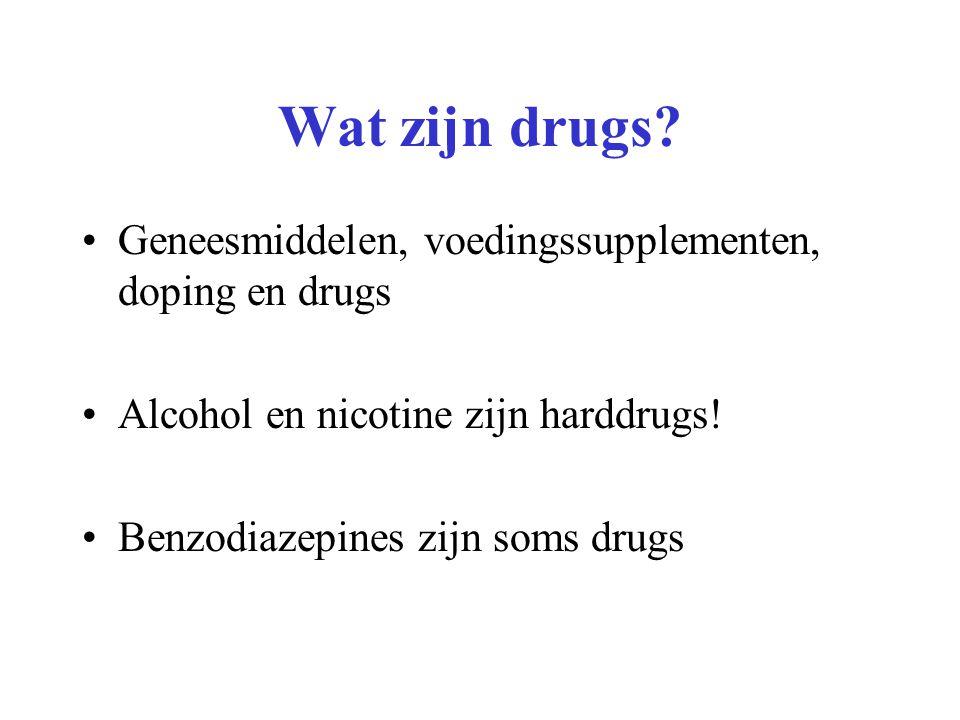 Wat zijn drugs Geneesmiddelen, voedingssupplementen, doping en drugs