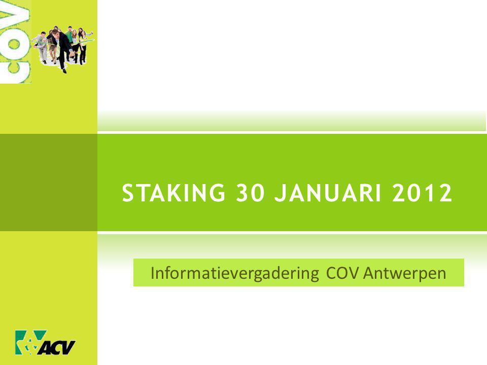 Informatievergadering COV Antwerpen