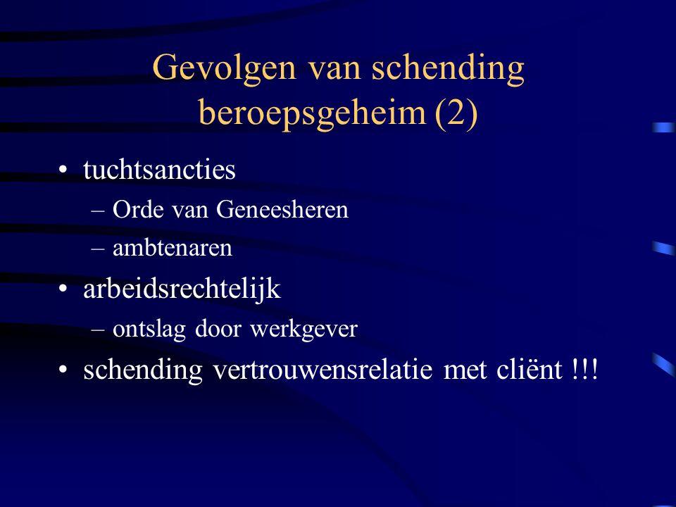 Gevolgen van schending beroepsgeheim (2)