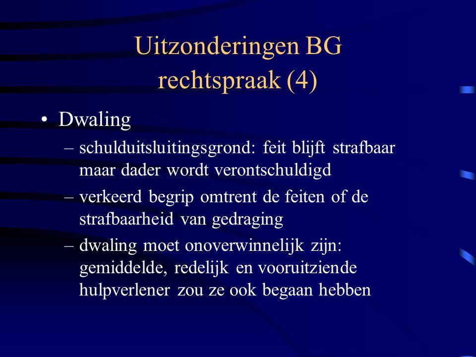 Uitzonderingen BG rechtspraak (4)