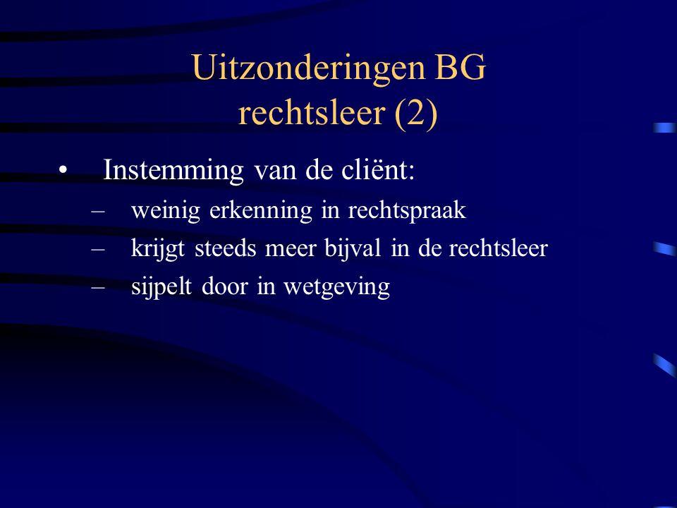 Uitzonderingen BG rechtsleer (2)