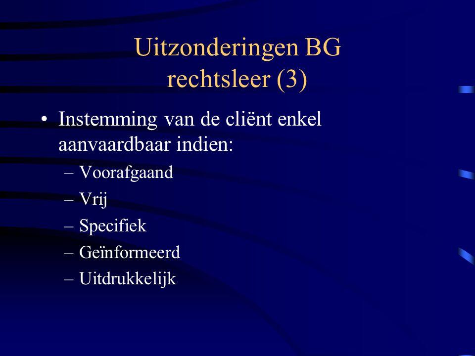 Uitzonderingen BG rechtsleer (3)