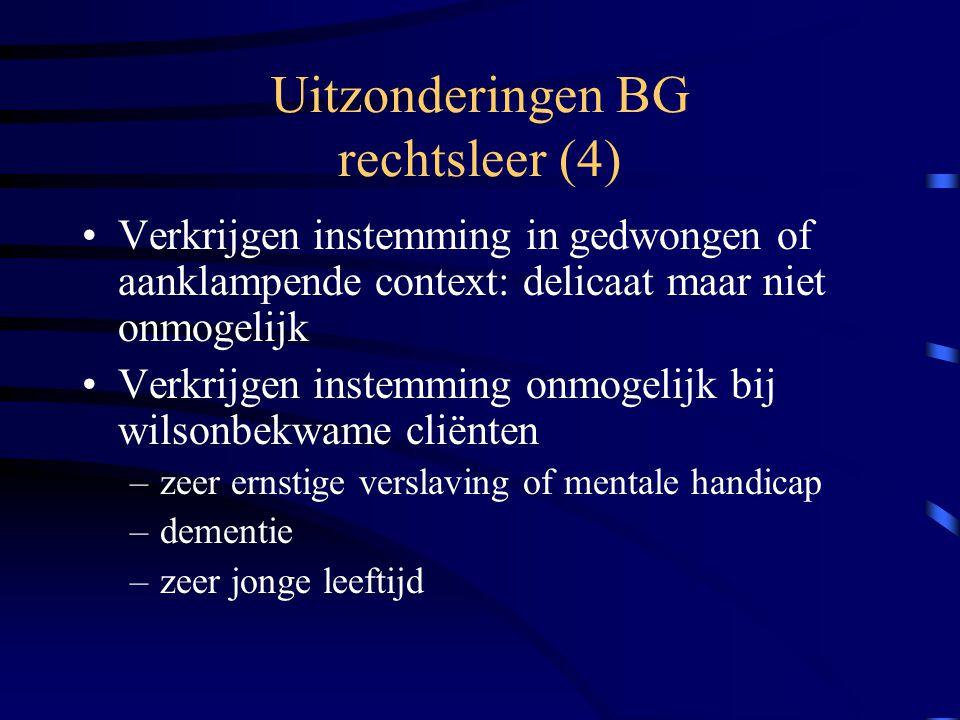 Uitzonderingen BG rechtsleer (4)