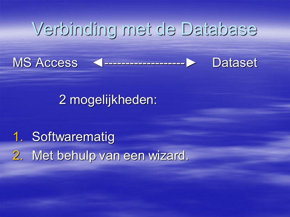 Verbinding met de Database
