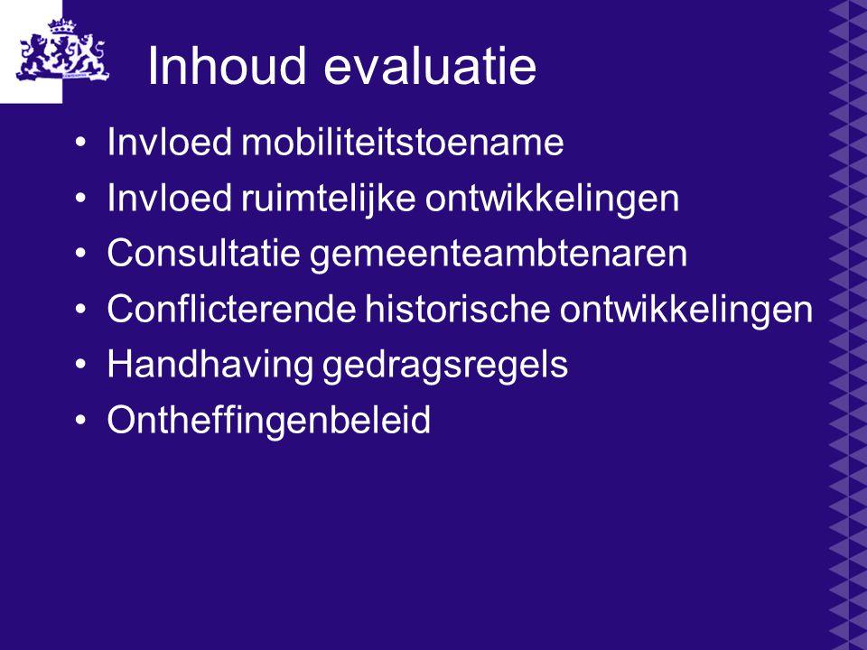 Inhoud evaluatie Invloed mobiliteitstoename