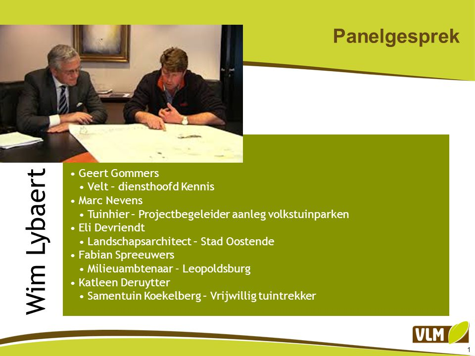 Wim Lybaert Panelgesprek Geert Gommers Velt – diensthoofd Kennis
