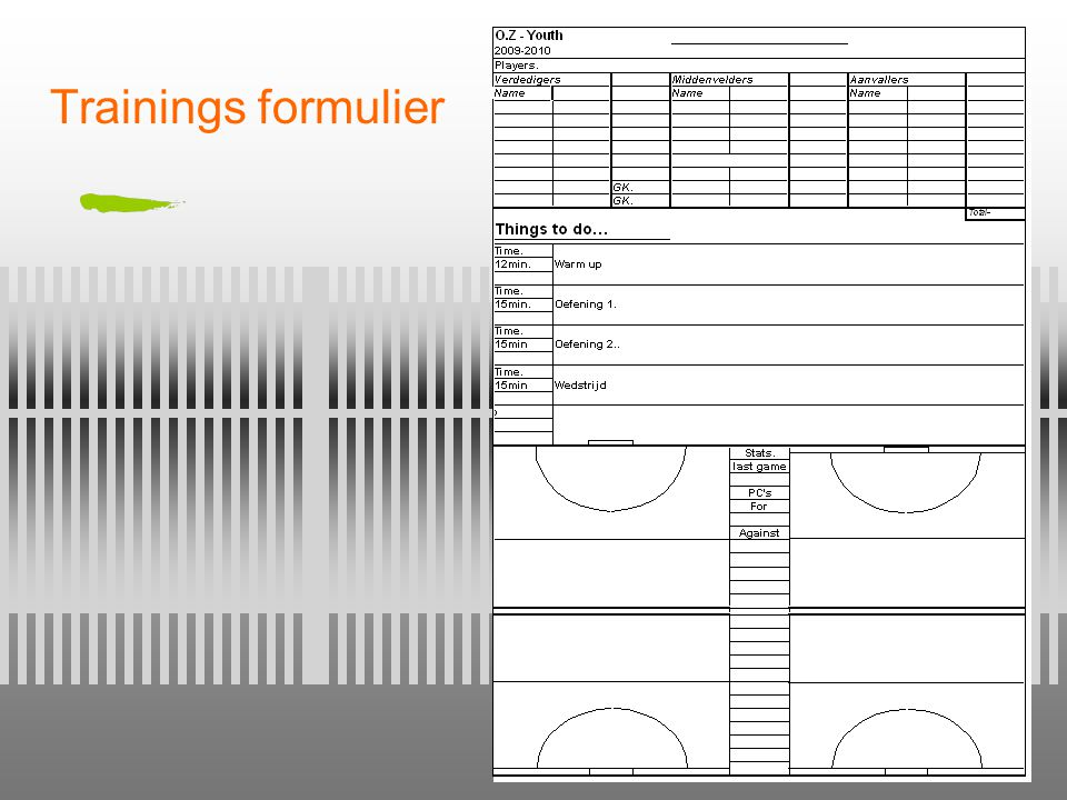 Trainings formulier