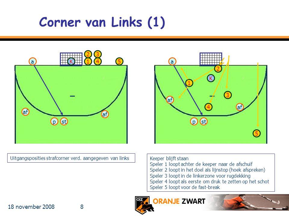 Corner van Links (1) 2 3 a K 1 4 5 a 2 K 1 3 af 4 af af af p st p st 5