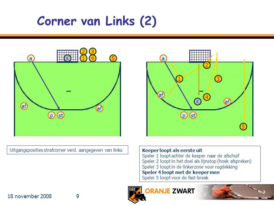 Corner van Links (2) 2 3 a K 1 4 5 a 2 1 3 af 4 K af af af p st p st 5