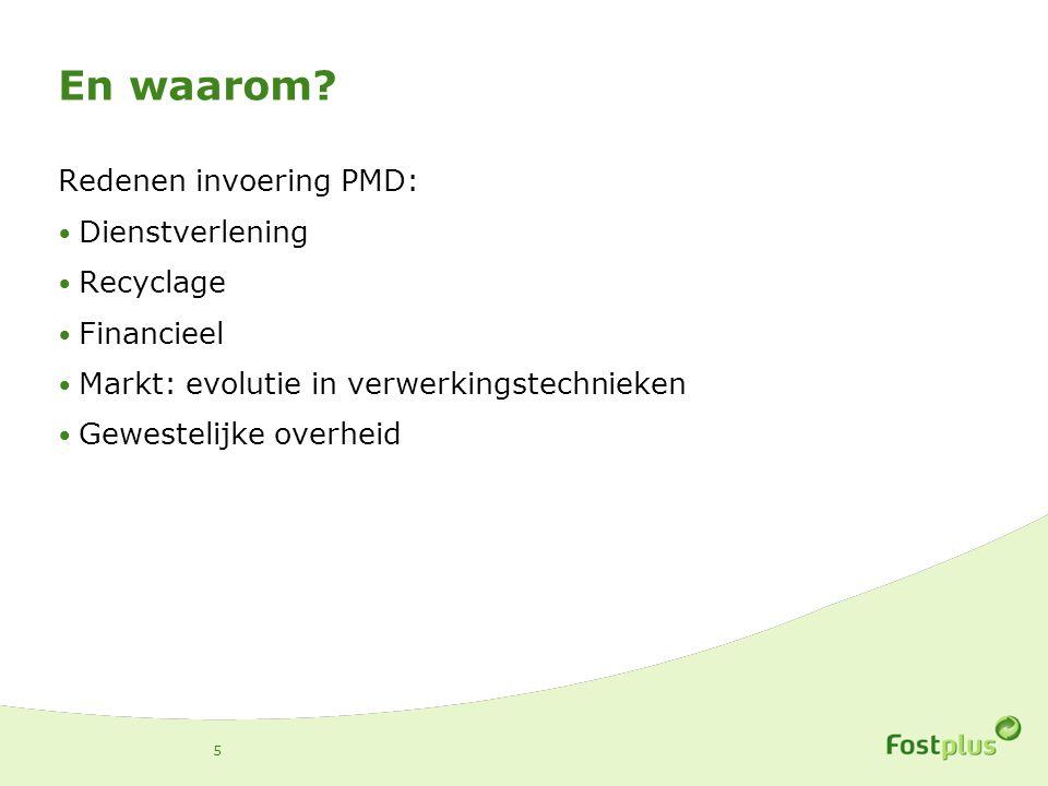 En waarom Redenen invoering PMD: Dienstverlening Recyclage Financieel
