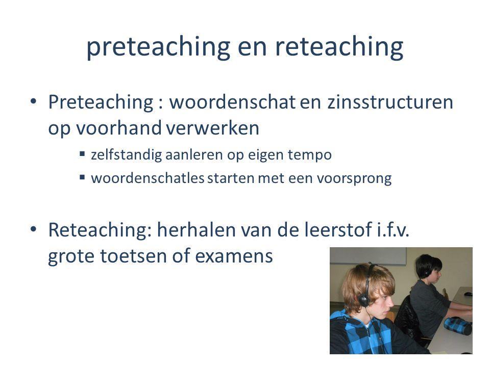 preteaching en reteaching