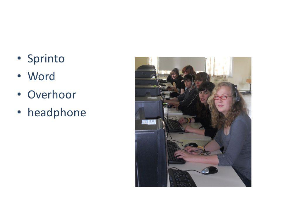Sprinto Word Overhoor headphone