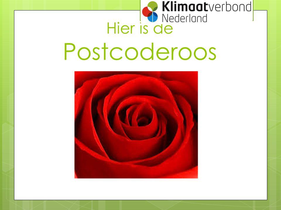 Hier is de Postcoderoos