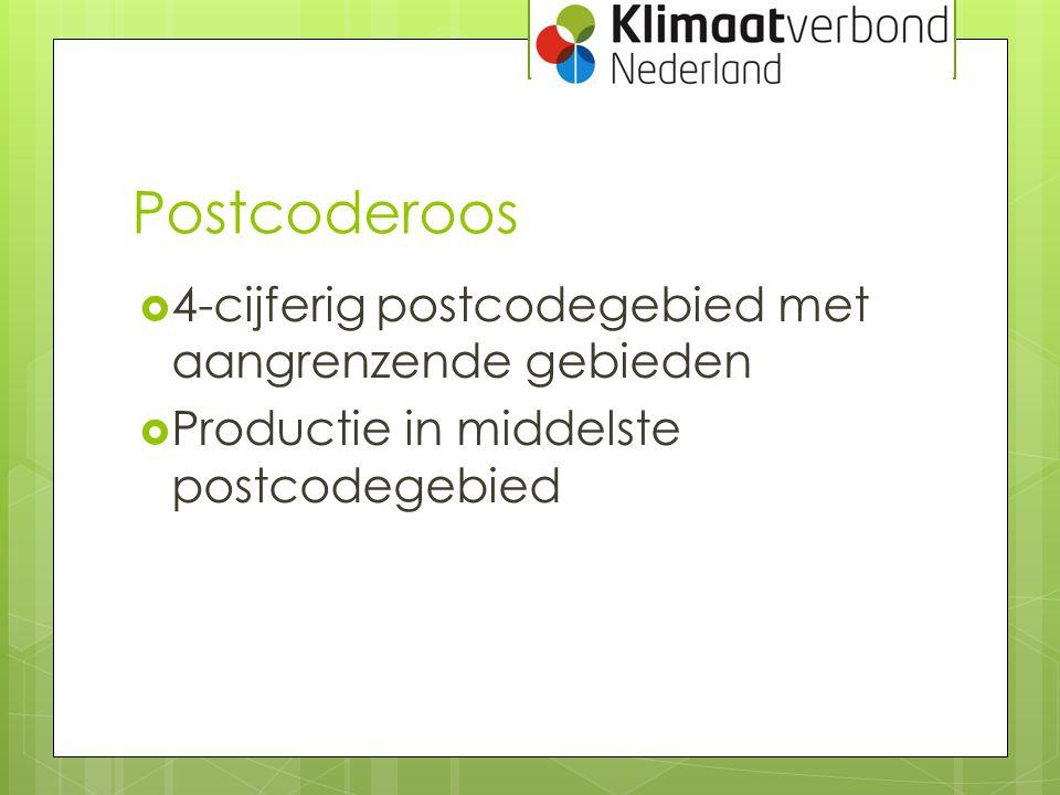 Postcoderoos 4-cijferig postcodegebied met aangrenzende gebieden