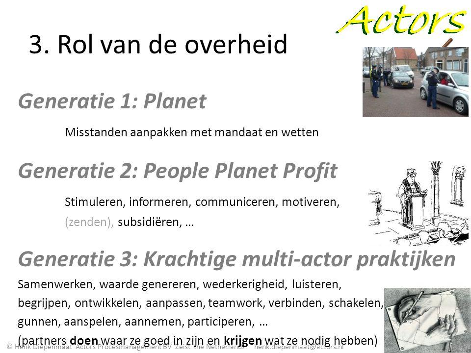 3. Rol van de overheid Generatie 1: Planet