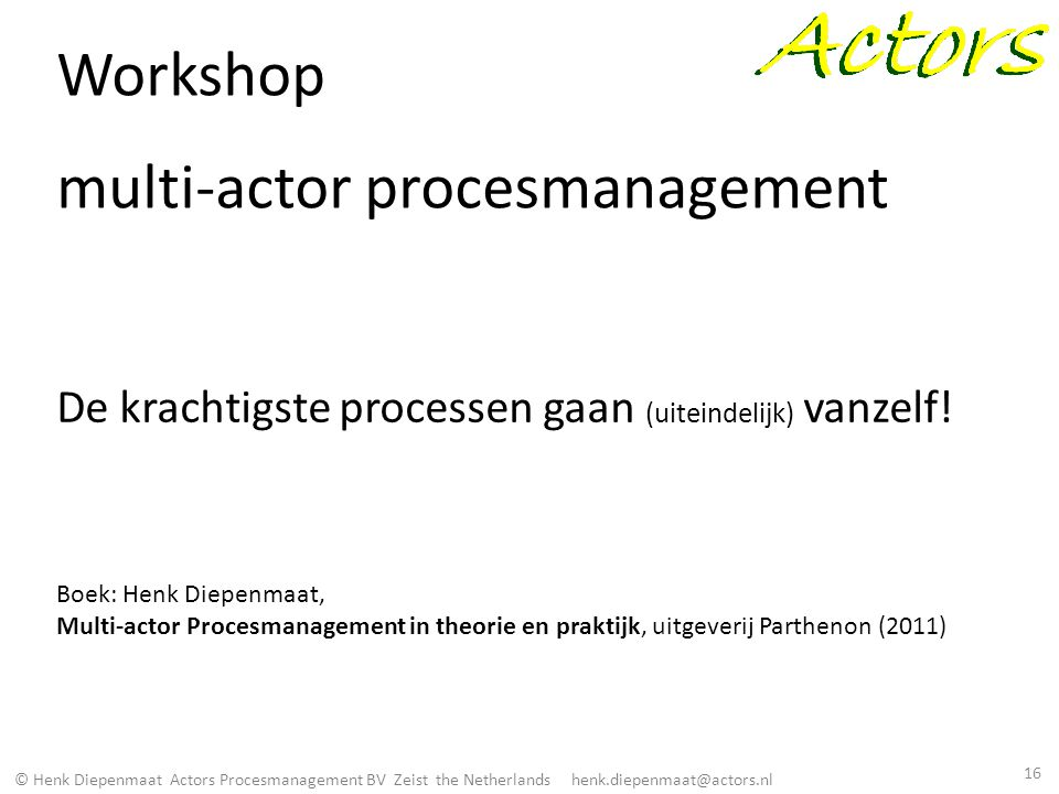 Workshop multi-actor procesmanagement