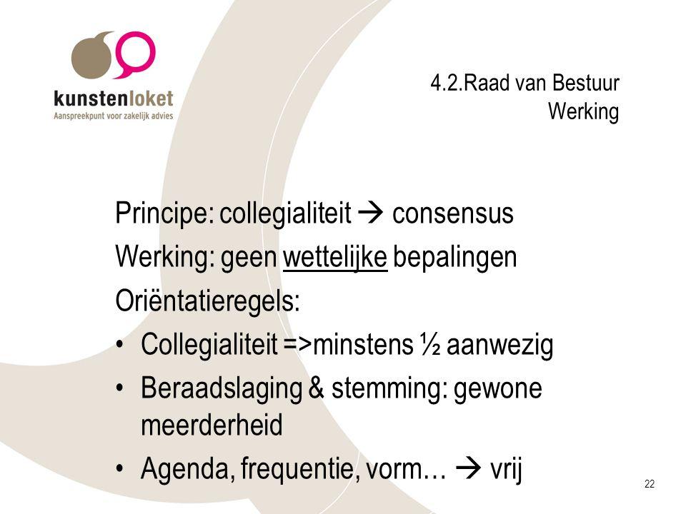 4.2.Raad van Bestuur Werking