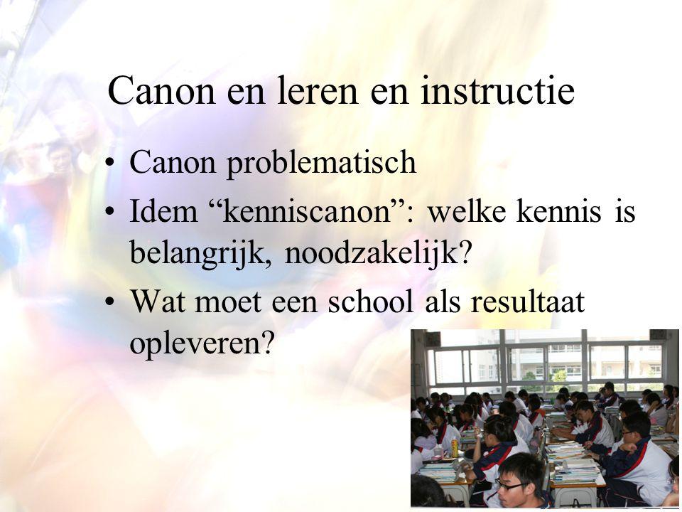 Canon en leren en instructie