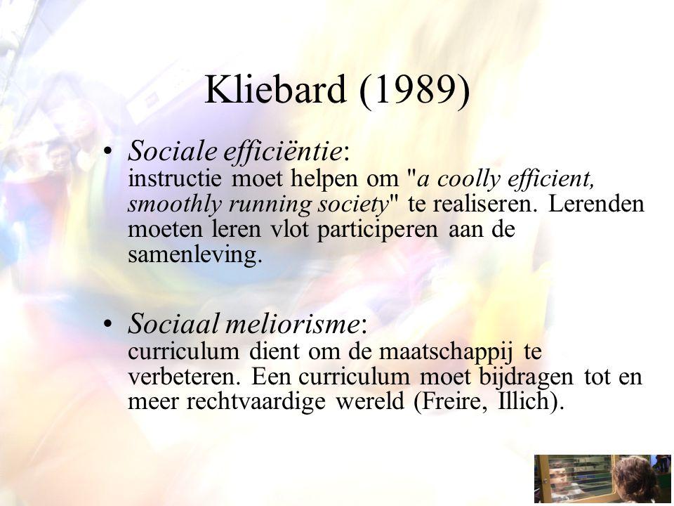 Kliebard (1989)