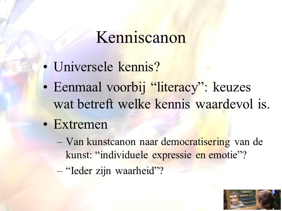 Kenniscanon Universele kennis