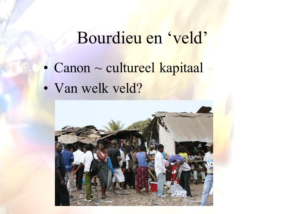 Bourdieu en 'veld' Canon ~ cultureel kapitaal Van welk veld