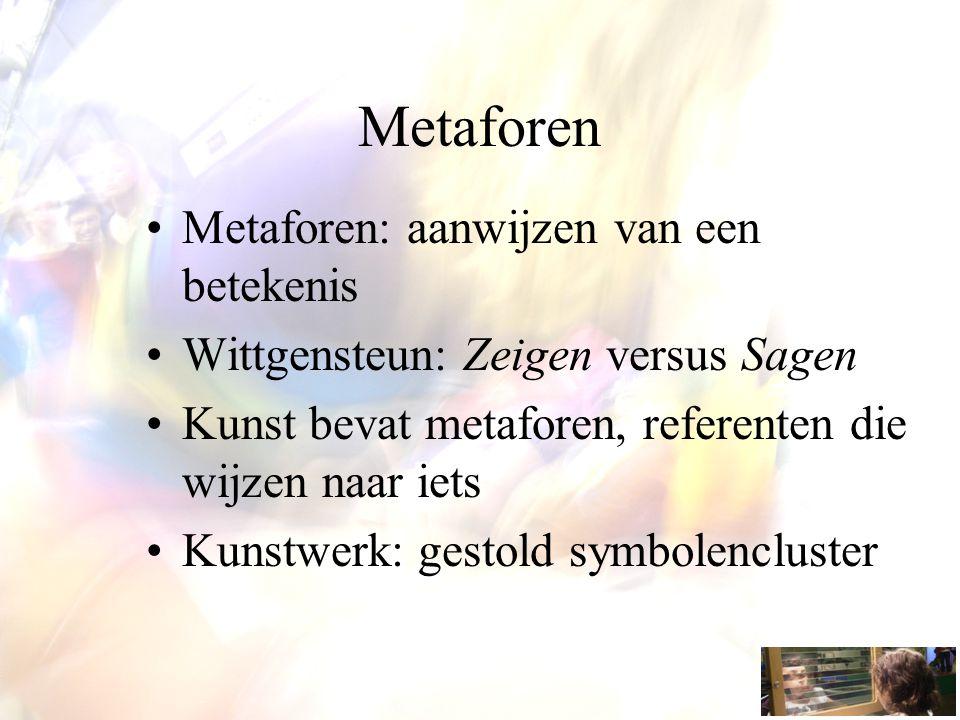 Metaforen Metaforen: aanwijzen van een betekenis