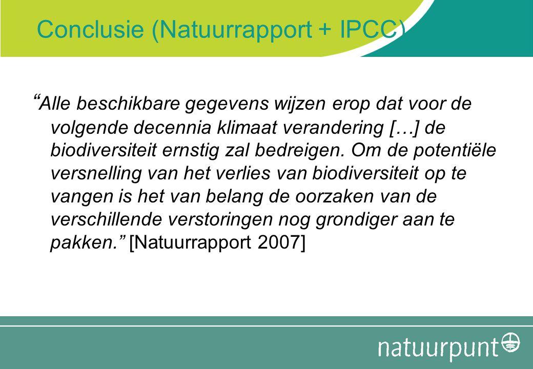 Conclusie (Natuurrapport + IPCC)