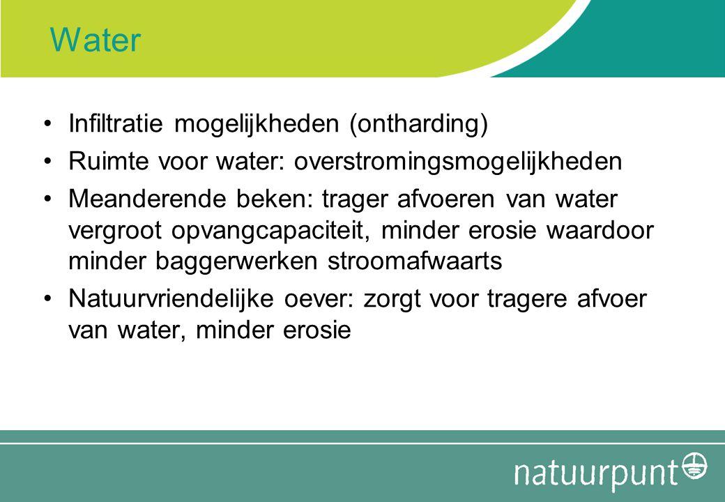 Water Infiltratie mogelijkheden (ontharding)